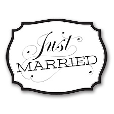 Just Married Car Sign - Black