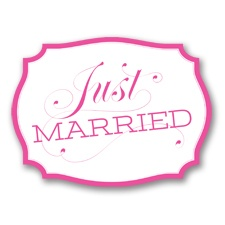Just Married Car Sign - Fuchsia