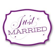 Just Married Car Sign - Grapevine