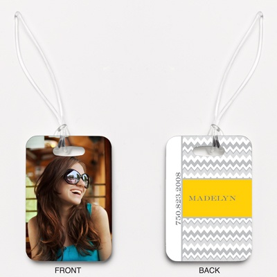 Chic Chevron - Citrus - Photo Luggage Tag