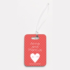 Woven Romance - Couples -Photo Luggage Tag