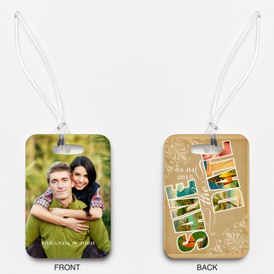 Souvenir - Tropical - Save the Date Photo Luggage Tag