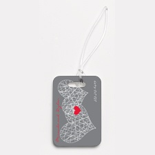 Heart Web - Couple's - Photo Luggage Tag