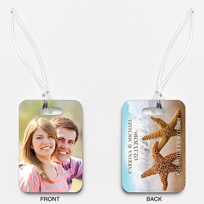 Starfish - Couple's - Photo Luggage Tag