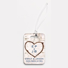 Carved In Love - Couples - Photo Luggage Tag