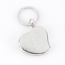 Silver Locket Key Chain