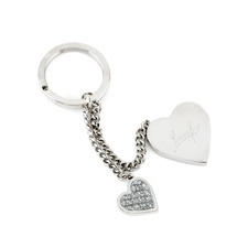 Glitter Galore Heart Key Chain