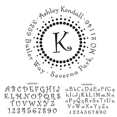 Personalized Self-Inking Address Stamp - Modern Dots Design