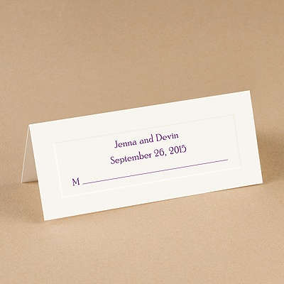 Blank Place Cards  Weddings on Wedding Stationery    Place Cards    White Single Panel Place Cards
