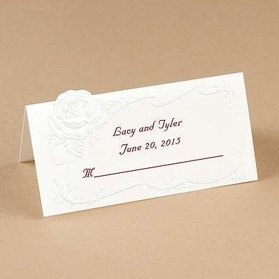 White Rose Place Card