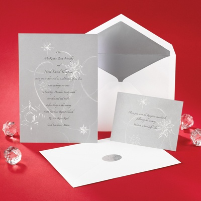 Silver Snowfall - Invitation