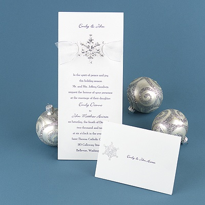 Prismatic Snowflake - Invitation
