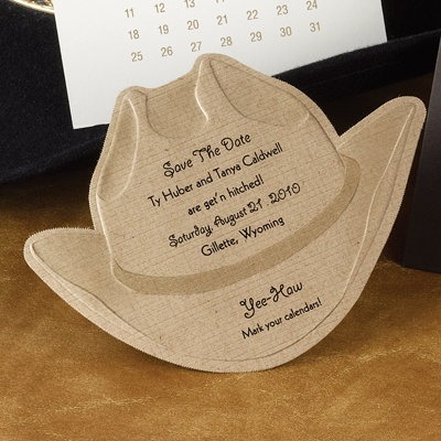 Under the Hat - Save the Date Card