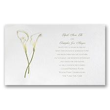 Calla Lily Connection - Invitation