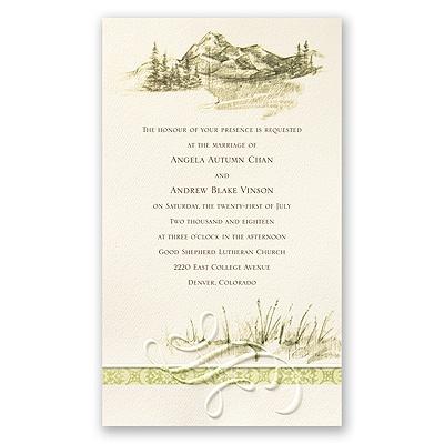 Sample Wedding Reception Invitations on Home    Wedding Invitations    Nature Wedding Invitations    Majestic