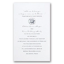 Simply Stated - White - Invitation