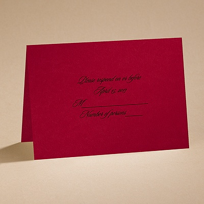 Dramatic Rose - Black and Red - respond card and envelope
