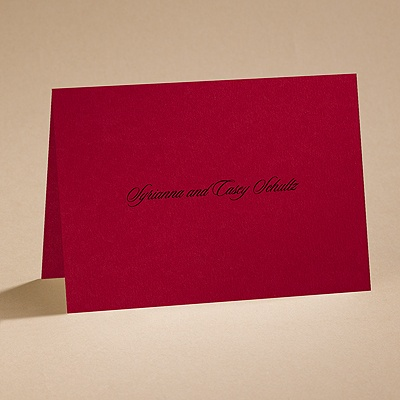 Dramatic Rose - Black and Red - note card and envelope