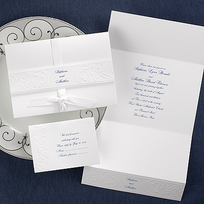 Romantic Swirls - Invitation