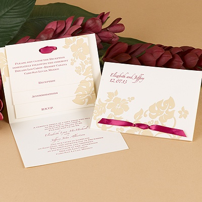 Hibiscus Flourish - Invitation