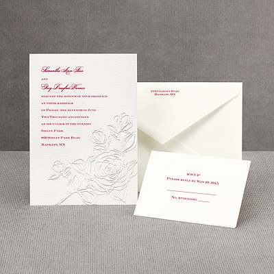 Whimsical Rose - Invitation
