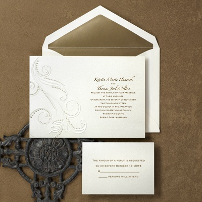 Beaded Swirls - Invitation