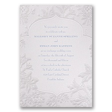 Shimmering Lace - Invitation