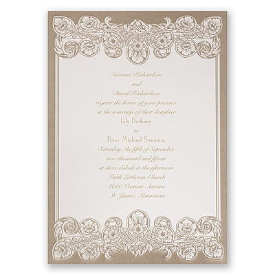 Feather Filigree - Invitation
