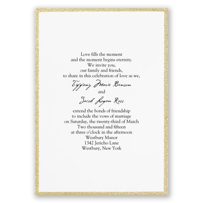 Framed in Glitter - Gold - Invitation
