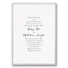 Framed in Glitter - Silver - Invitation