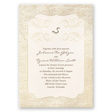Burlap Sensation - Invitation
