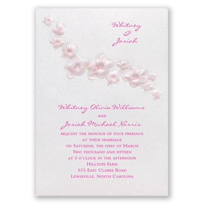Pretty Plumeria - Invitation