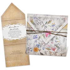 Antique Floral - Invitation