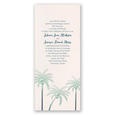 Pleasing Palm Trees - Invitation