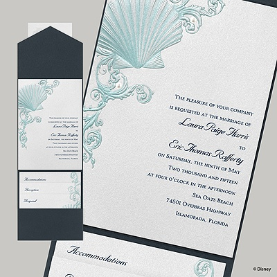 Beneath the Waves Invitation - Ariel