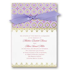 Exotic Romance Invitation - Jasmine