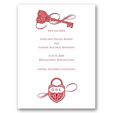 Lock and Key - Save the Date Card
