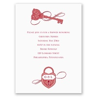 Lock and Key - Bridal Shower Invitation