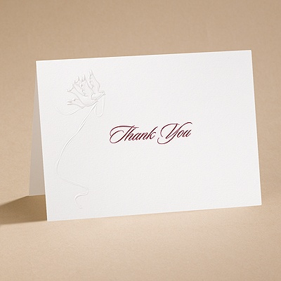 Wings Of Love - Thank You Card With Envelope