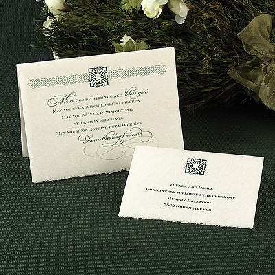 Celtic Pride - Reception Card