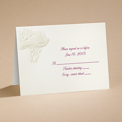 Country Elegance - Respond Card and Envelope