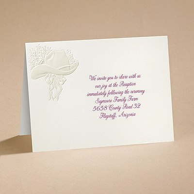 Country Elegance - Reception Card