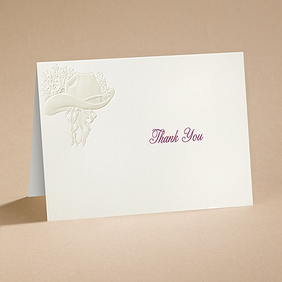 Country Elegance - Thank You Card and Envelope