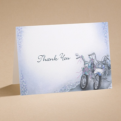 Born To Be Wed - Thank You Card With Verse And Envelope