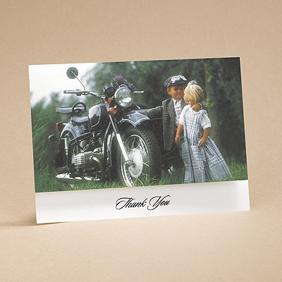Riding High On Love - Thank You Card With Verse And Envelope