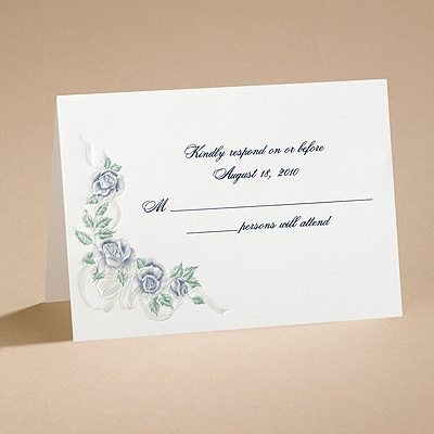 Isn't It Romantic - Respond Card and Envelope