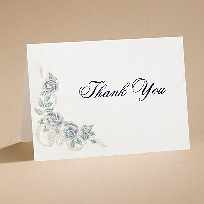 Isn't It Romantic - Thank You Card with Verse and Envelope