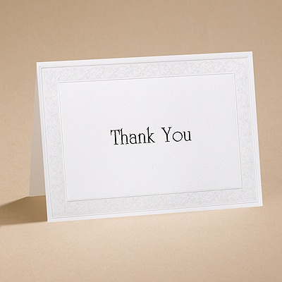 All That Shimmers - Pearl Thank You Card and Envelope
