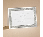 All That Shimmers - Silver Response Card and Envelope