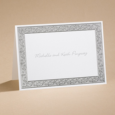 All That Shimmers - Silver Note Card and Envelope
